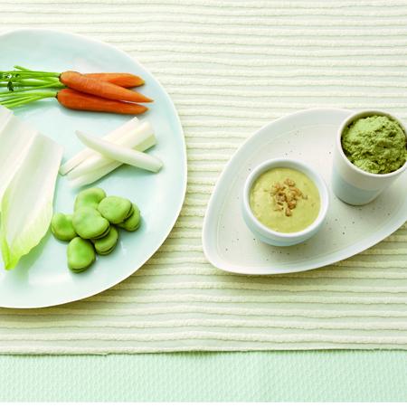 お手軽カンタンレシピ。桑和三盆糖でつくる見た目もオシャレなディップサラダ