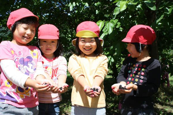 桜江町:保育園児 in 桑の実園