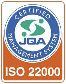 ISO22000を取得しました